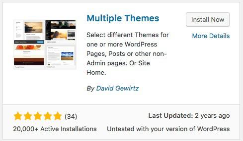 Plugin Multiple Themes là gì