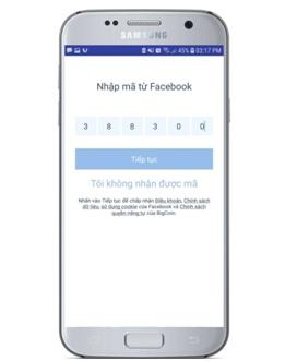 xác nhận mã Fb app bigcoin