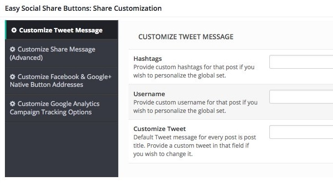 Plugin easy social share buttons