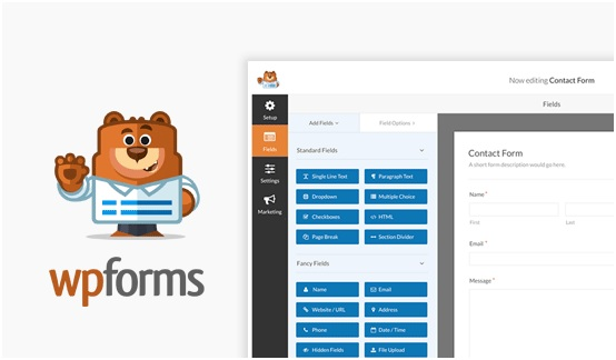 WPForms plugin contact form tốt nhất
