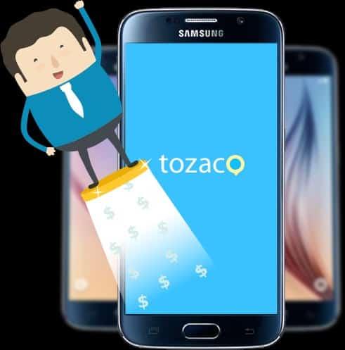 Ứng dụng kiếm tiền trên điện thoại tozaco