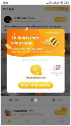 nhận thưởng VeeU App
