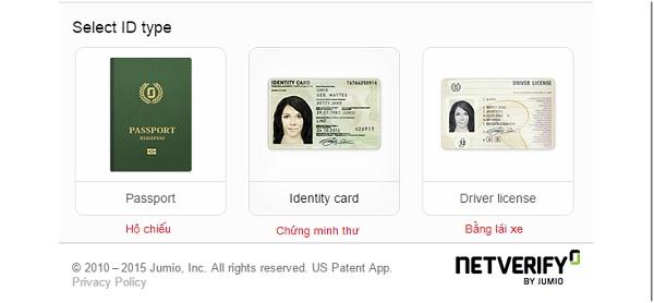 scan đăng ký Neteller bằng CMND