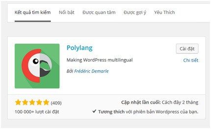 Tạo website đa ngôn ngữ với Plugin Polylang
