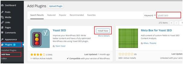Cài đặt Yoast SEO cho website wordpress của bạn