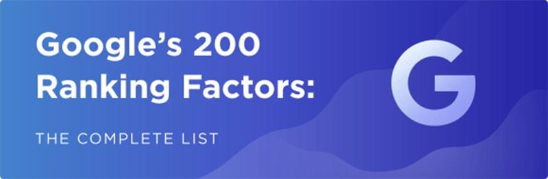 Danh sách đầy đủ Các yếu tố xếp hạng của Google năm 2019