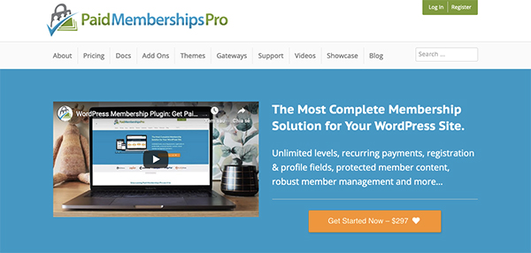 Plugin Paid Memberships Pro