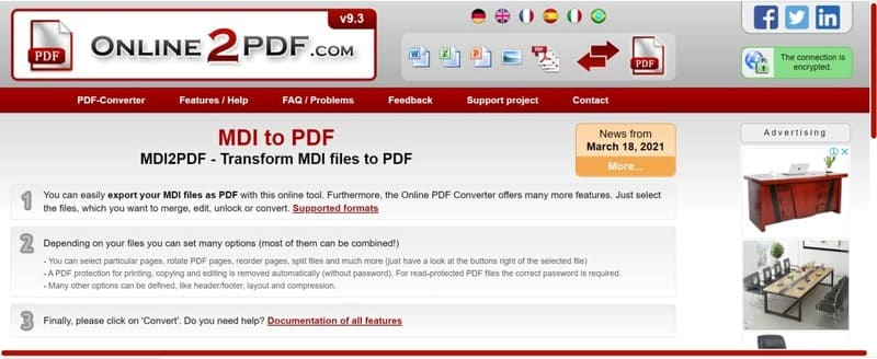 Chuyển ảnh sang PDF nhanh bằng MDI2PDF Converter