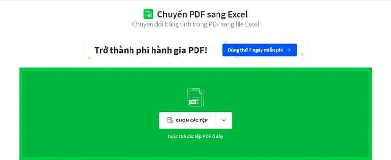 ILovePDF giúp chuyển PDF sang Excel chuẩn fomat
