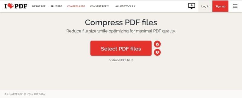 Sử dụng ứng dụng IlovePDF để giảm dung lượng file PDF