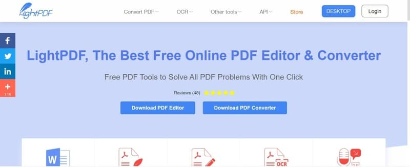 Nén file PDF bằng ứng dụng LightPDF