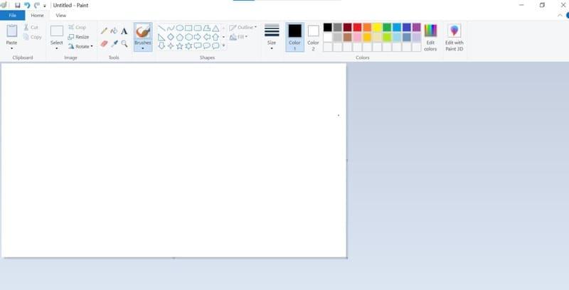 Ứng dụng Paint để chuyển file PDF sang file JPG