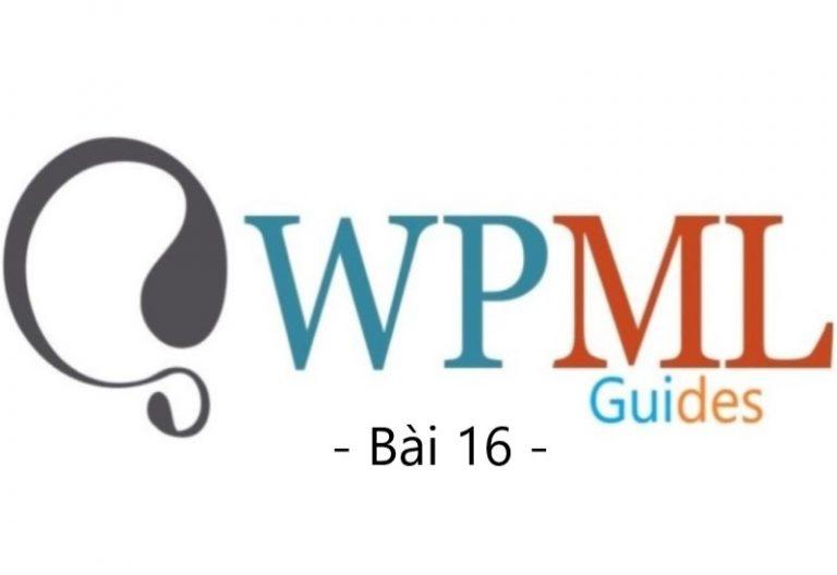 Hướng dẫn cấu hình WPML (Bài 16)