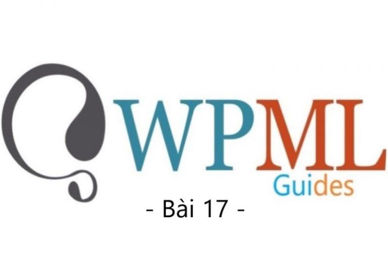 Hướng dẫn cấu hình WPML (Bài 17)